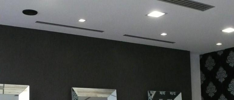 Impianto climatizzazione Parrucchiere Trento per Ditta Buizza Arredamenti